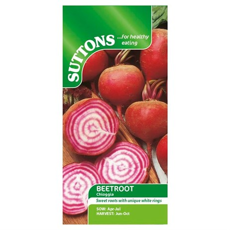 Suttons Beetroot Seeds - Chioggia (151821)