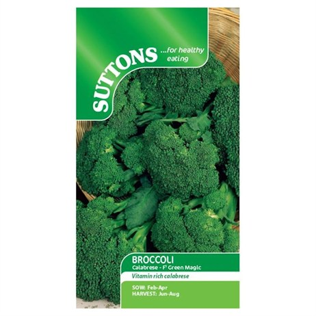 Suttons Broccoli Seeds - F1 Green Magic (152281)