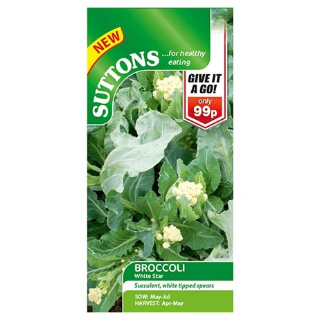 Suttons Broccoli Seeds - White Star (152300)