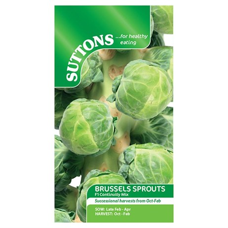 Suttons Brussels Sprout Seeds - F1 Continuity Mix (153261)