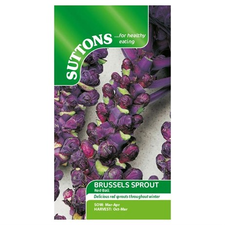Suttons Brussels Sprout Seeds - Red Ball (153475)