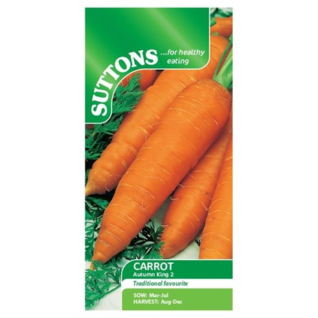 Suttons Carrot Seeds - Autumn King 2 (157629)