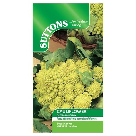 Suttons Cauliflower Seeds - Romanesco Early (158241)