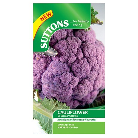Suttons Cauliflower Seeds - Di Sicilia Violetto (158244)