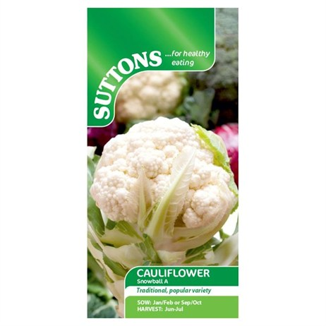 Suttons Cauliflower Seeds - Snowball A (158365)