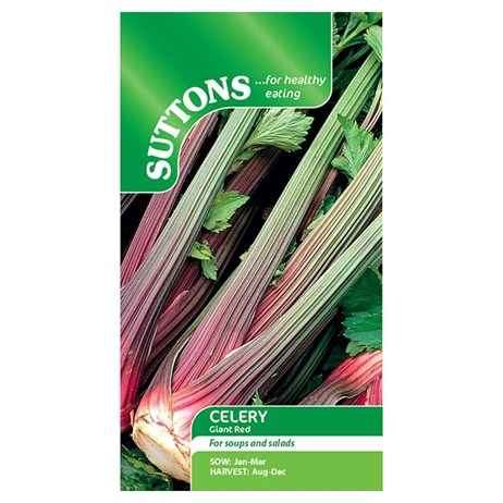 Suttons Celery Seeds - Giant Red (160128)
