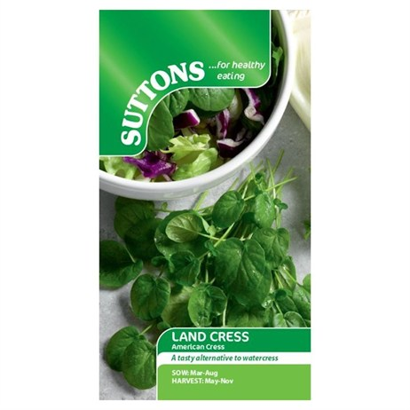 Suttons Cress Seeds - American (Land) (161670)