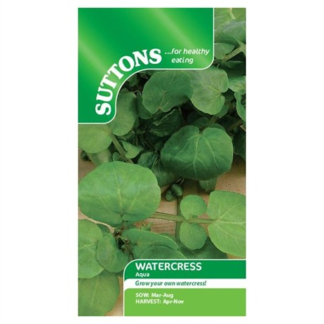 Suttons Cress Seeds - Watercress Aqua (161689)