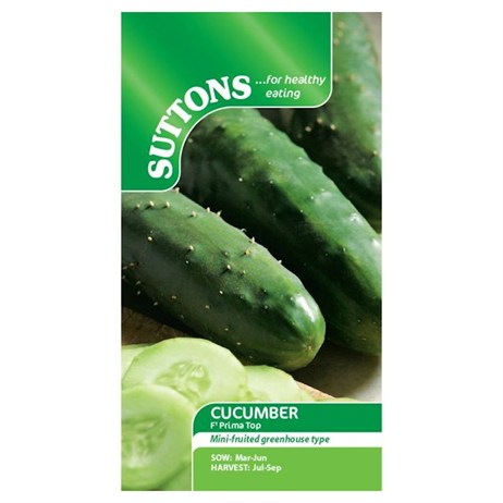 Suttons Cucumber Seeds - F1 Prima Top (162013)