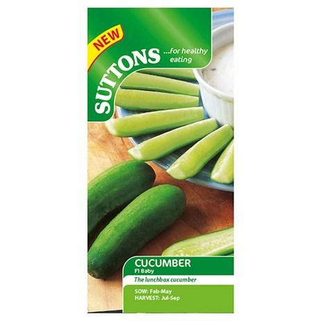 Suttons Cucumber Seeds - F1 Baby (162480)