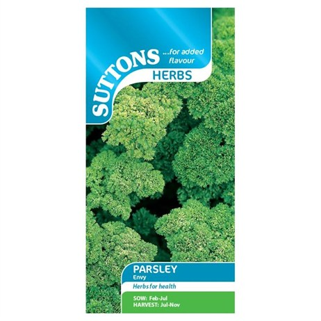 Suttons Herb Seeds - Parsley Envy (165192)