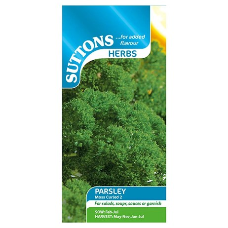 Suttons Herb Seeds - Parsley Moss Curled 2 (165200)