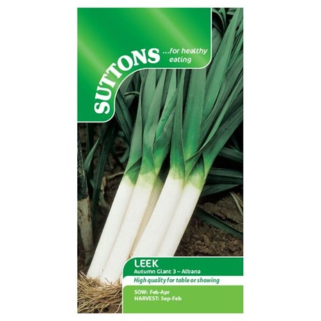 Suttons Leek Seeds - Autumn Giant 3 Albana (167150)