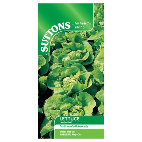 Suttons Lettuce Seeds - Unrivalled (167886)