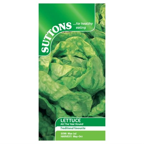 Suttons Lettuce Seeds - All The Year Round (167975)