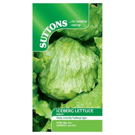 Suttons Lettuce Seeds - Match (168560)