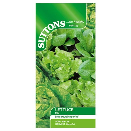 Suttons Lettuce Seeds - Mixed - Iceberg, Cos and Butterhead (169410)