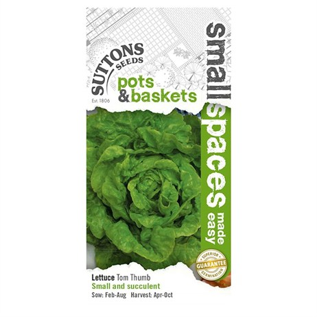 Suttons Lettuce Seeds - Tom Thumb (169430)