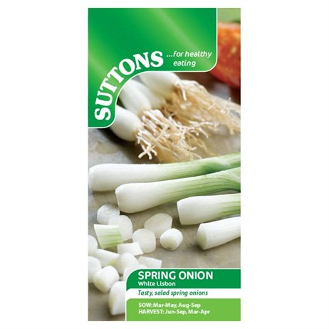 Suttons Onion (Salad) Seeds - White Lisbon (173411)