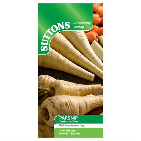 Suttons Parsnip Seeds - Tender and True (175005)