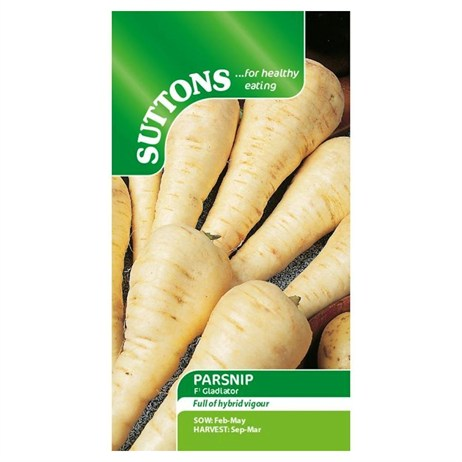 Suttons Parsnip Seeds - F1 Gladiator (175080)
