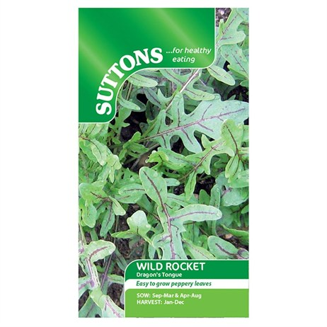 Suttons Leaf Salad Seeds - Wild Dragons Tongue (177474)