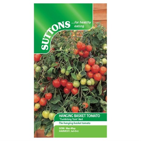 Suttons Tomato Seeds - Tumbling Tom Red (181317)