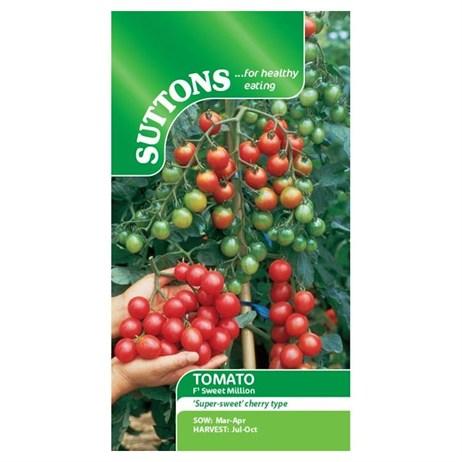 Suttons Tomato Seeds - F1 Sweet Million (181392)