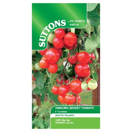 Suttons Tomato Seeds - F1 Tumbler (182363)