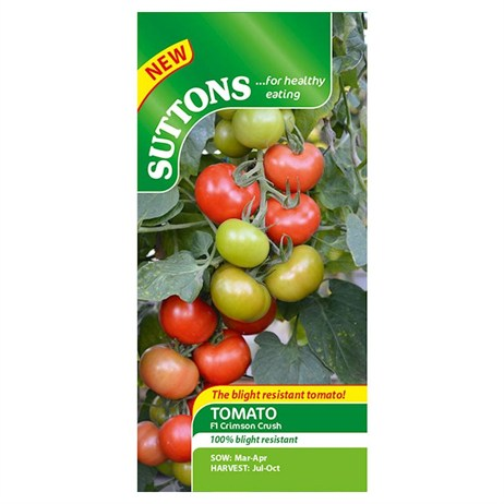 Suttons Tomato Seeds - F1 Crimson Crush (182440)