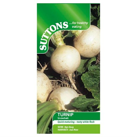 Suttons Turnip Seeds - Snowball (183050)