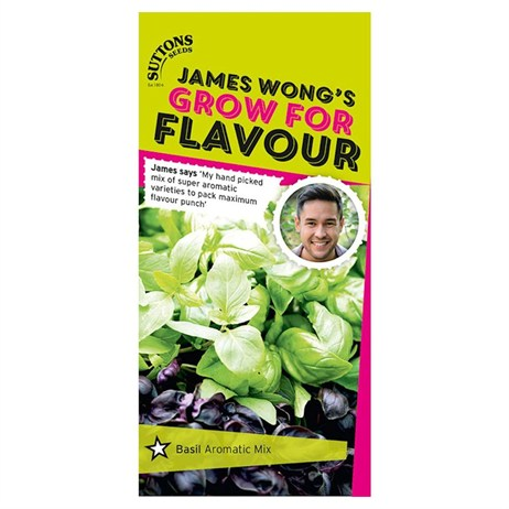 Suttons James Wong Seeds - Basil Aromatic Mix (187500)