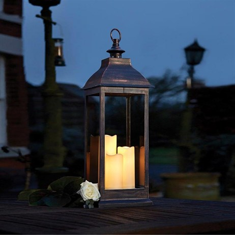 Smart Garden Giant Copper Battery Lantern (1950010RB) 52 x 27 x 74cm