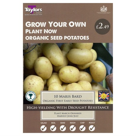 Taylors Bulbs Seed Potatoes Maris Bard (First Early) (10 Pack) (VP515)