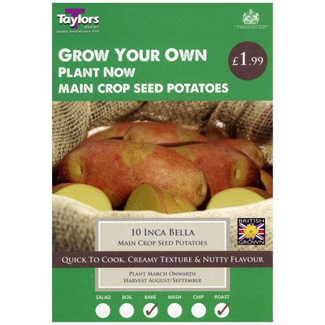 Taylors Bulbs Seed Potatoes Inca Bella (10 Pack) (VP445)