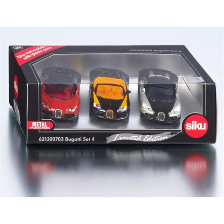 Bugatti LIMITED EDITION Set of 3 Cars (Version 4) (6213D)