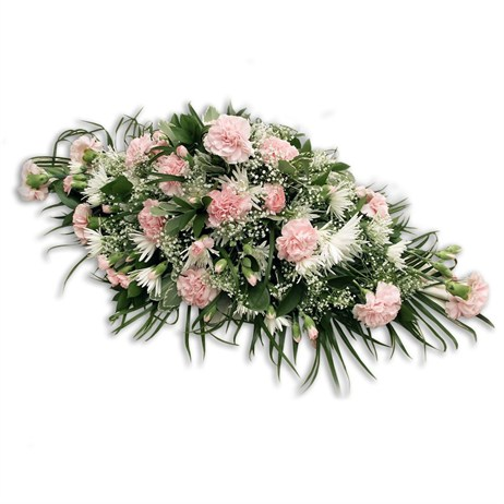 With Sympathy Flowers - Pink Carnation and Gypsophila Double Ended Spray 2ft