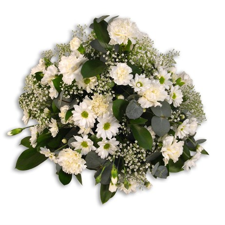 With Sympathy Flowers - Cream and White Posy Arrangment