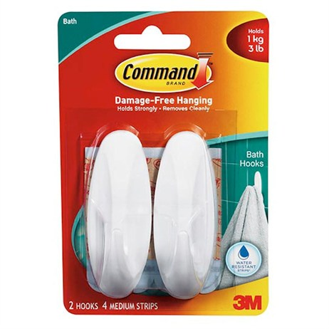 Command Shower Hooks Medium 17081B (4381)