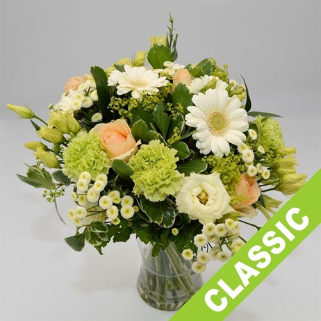 Peach & Cream Hand Tied Bouquet - Classic