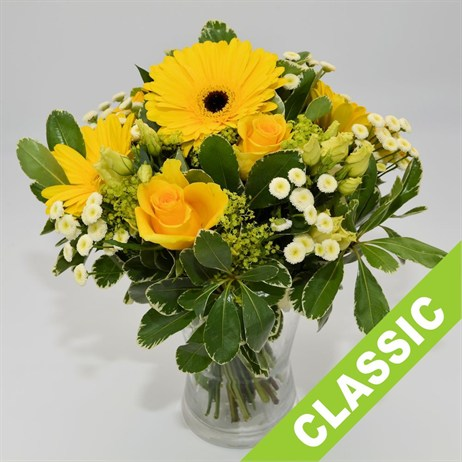 Yellow Hand Tied Bouquet - Premium