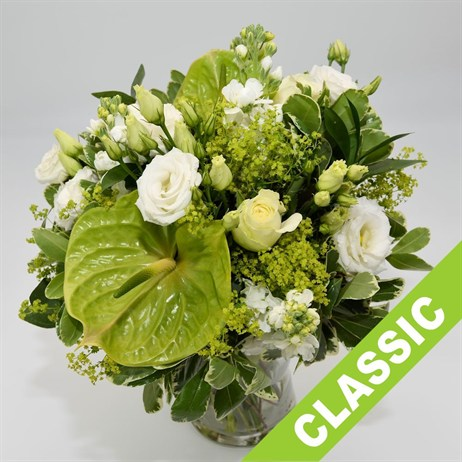 White Hand Tied Bouquet - Premium