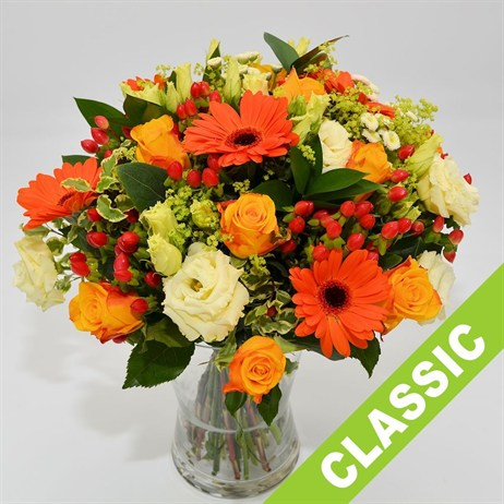 Orange Hand Tied Bouquet - Classic