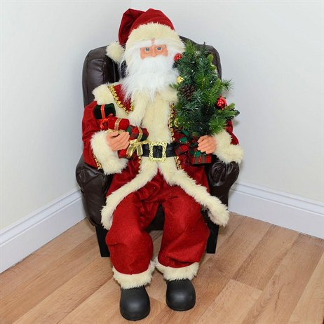 Inflatable Sitting Santa in Chair with Lights & Music - 30 Inch (XM-A6055)