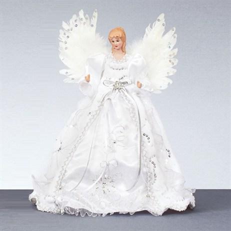 Angel Christmas Tree Topper.Premier Silver Angel Christmas Tree Topper 40cm Ac145094