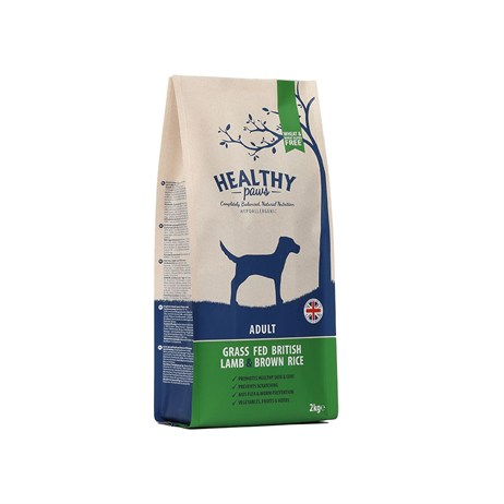 Healthy Paws Grass Fed British Lamb & Brown Rice (Adult) 2kg Dog Food