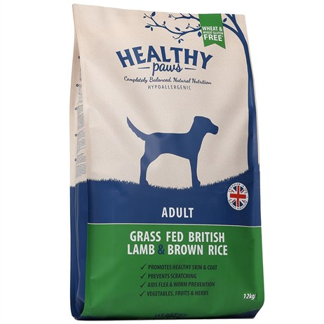 Healthy Paws Grass Fed British Lamb & Brown Rice (Adult) 12kg Dog Food