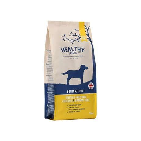 Healthy Paws British Free-Run Chicken & Brown Rice  (Senior/Light) 2kg Dog Food