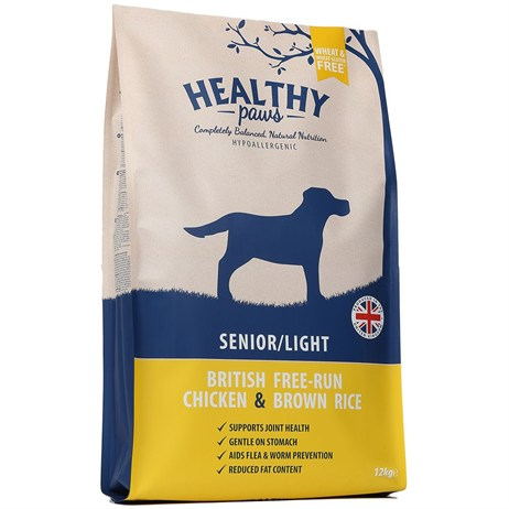 Healthy Paws British Free-Run Chicken & Brown Rice  (Senior/Light) 12kg Dog Food