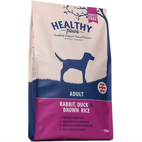 Healthy Paws Rabbit, Duck & Brown Rice (Adult) 12kg Dog Food